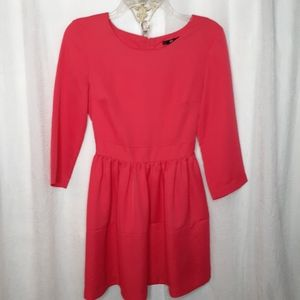 H &M Coral Color Scoop neck Mini Dress